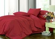 купить постельное белье Сатин однотонный WINE RED (BORDO), №23