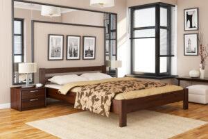 Кровать Рената цвет 101 темный орех