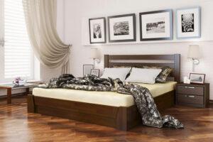 Кровать Селена цвет 101 темный орех