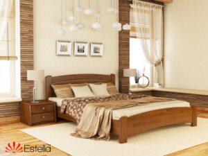 Кровать Венеция Люкс Эстелла двуспальная деревянная