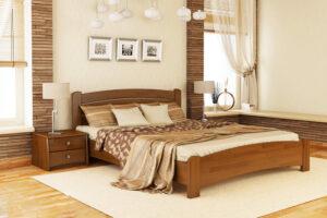 Кровать Венеция Люкс цвет 103 светлый орех