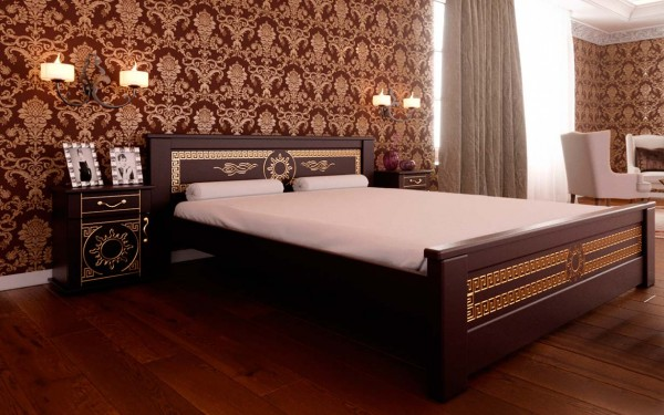 купить кровать из натурального дерева Элит ЧДК