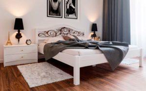 купить кровать из массива Италия с ковкой ЧДК