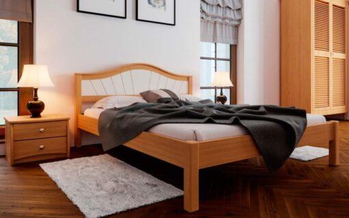 деревянные кровати Италия с мягким изголовьем ЧДК