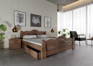 деревянная кровать купить Корона лесной орех ЧДК