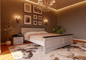кровать деревянная купить Майя New слоновая кость ЧДК