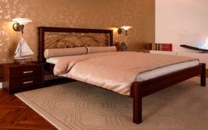 кровать деревянная купить Модерн с ковкой ЧДК