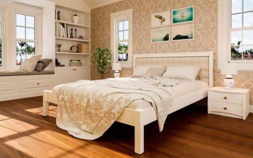 деревянная кровать Модерн с мягким изголовьем ЧДК