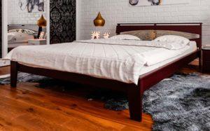 купить кровать из дерева Венеция с ковкой ЧДК