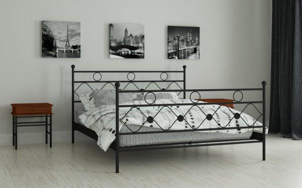металлические двуспальные кровати Бриана черный