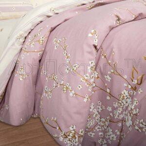 купить постельное белье Сакура поплин фото ткани 2
