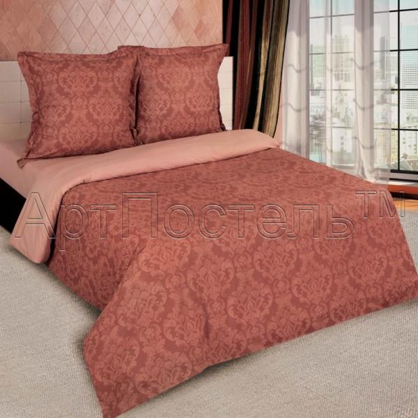 Постельное белье Византия коричневый поплин Комфорт текстиль