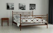 двуспальная кровать Бриана коричневый