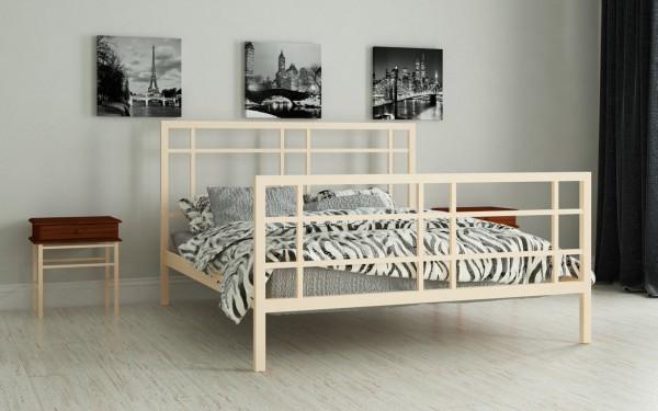 кровать на металлическом каркасе Дейзи беж