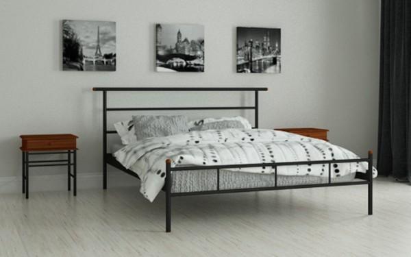 кровати металлические двуспальные Диаз черный