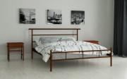 двуспальная кровать Диаз коричневый