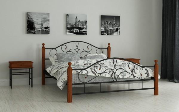 кровать из металла Гледис черный