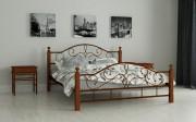 купить недорогую двуспальную кровать Гледис коричневый