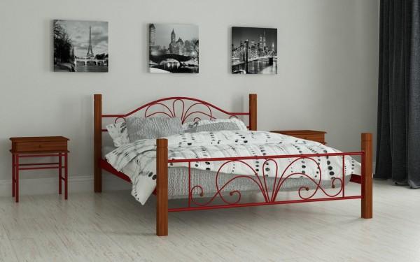 недорогие металлические кровати Изабелла красный
