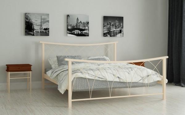 железная кровать Кира беж