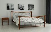 двуспальная кровать Кира коричневый