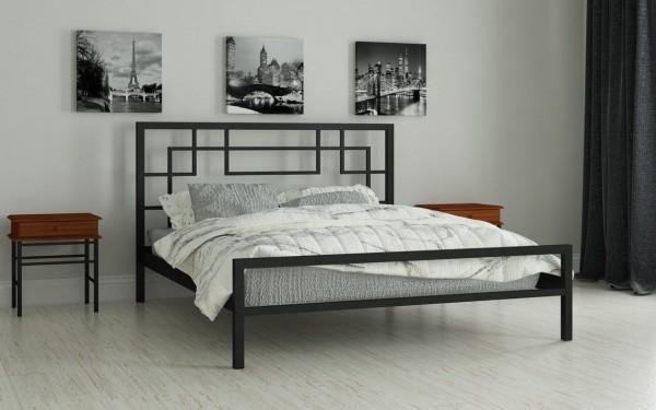 дешевые металлические кровати Лейла черный