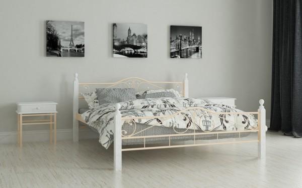 купить кровать металлическую Мадера беж