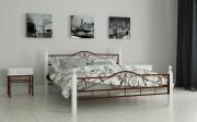 двуспальная кровать Мадера коричневый