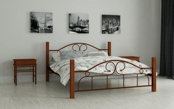 купить металлическую кровать Принцеса коричневый