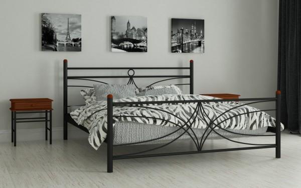 недорогие металлические кровати Тиффани черный