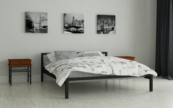 кровать двуспальная металлическая Вента черный