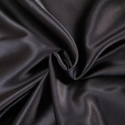 Сатин однотонный BLACK черный