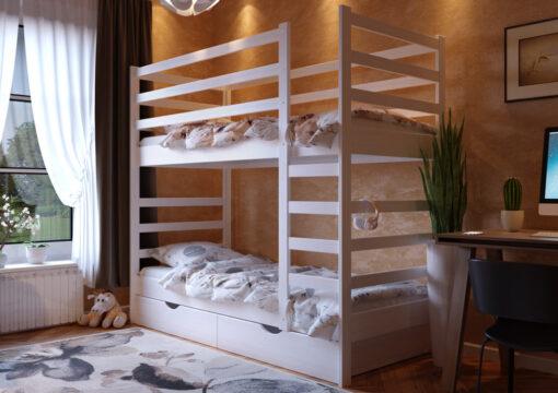 Кровать Эля двухъярусная ЧДК белый
