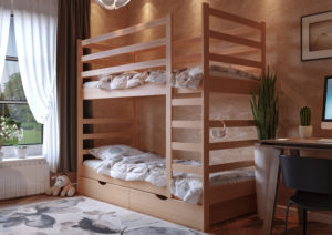 Кровать Эля двухъярусная ЧДК ольха