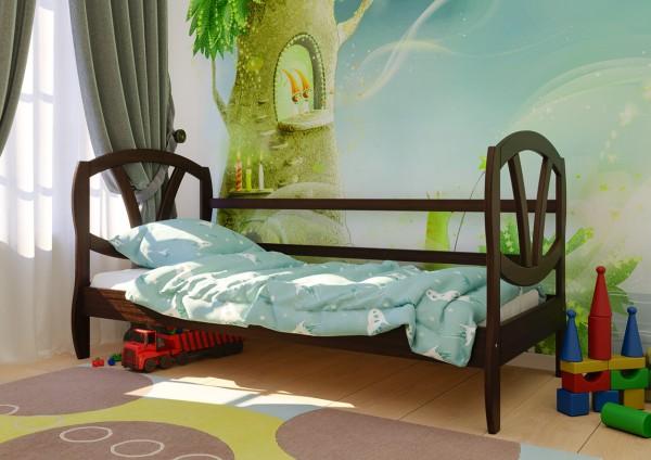 кровати для детей Виктория темный орех