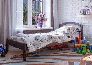 детская кровать Юлия темный орех