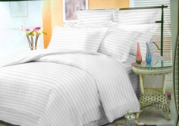 купить постельное белье STRIPE PREMIUM WHITE 2 см