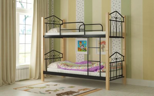 Двухъярусная металлическая кровать Тиара Мадера