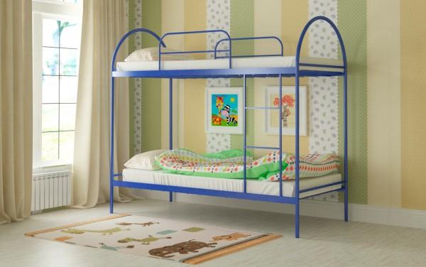 детские двухъярусные кровати Сеона синяя