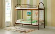 двухъярусная кровать детская сеона коричневая