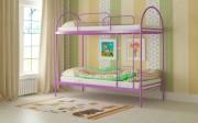 двухъярусная кровать детская сеона фиолетовая