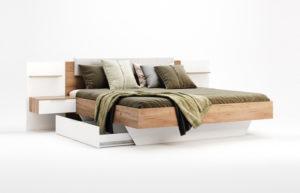 Кровать-ASTI-160x200-Miromark-с-тумбами-и-мягким-изголовьем