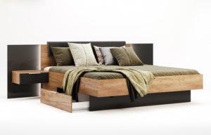Кровать-LUNA-180x200-Miromark-с-тумбами-и-мягким-изголовьем