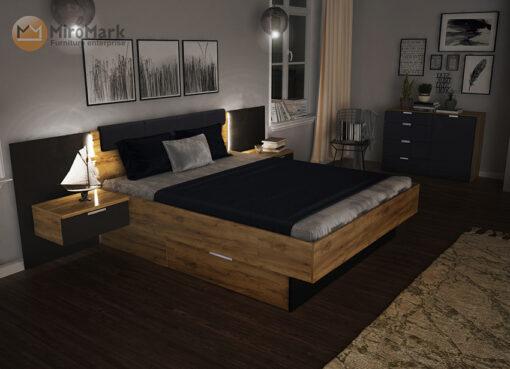 кровать Luna Led подсветка