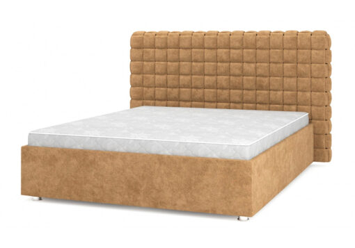 кровать подиум Квадро Люкс 04 карамель