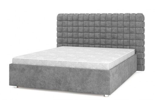 кровать подиум Квадро Люкс 08 серая