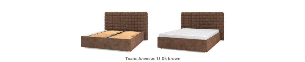 Кровать подиум Квадро Люкс варианты обивки фото 2