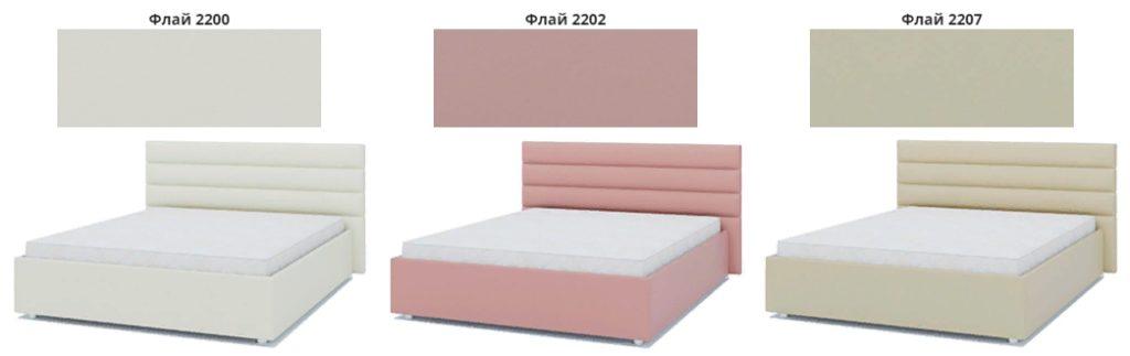 Кровать подиум Лидер варианты обивки фото 1