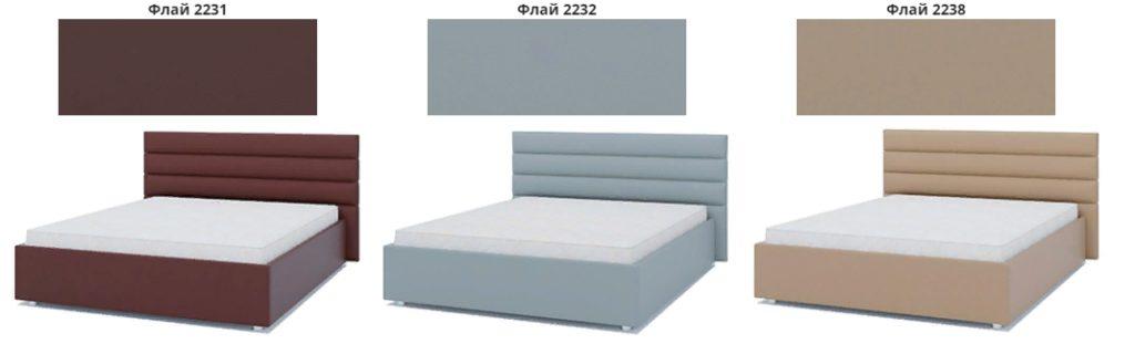 Кровать подиум Лидер варианты обивки фото 2
