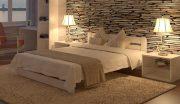 деревяннаня кровать Престиж Mecano белая